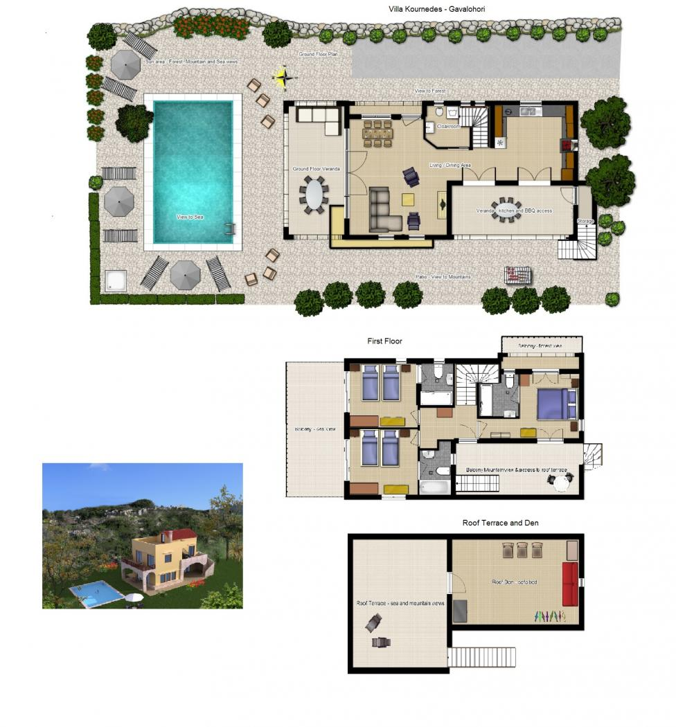 Villa Kournedes - Floor Plans v2
